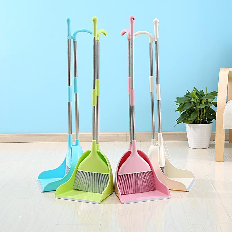 家用塑料扫把簸箕套装 扫帚簸箕组合软毛居家办公室多功能组合