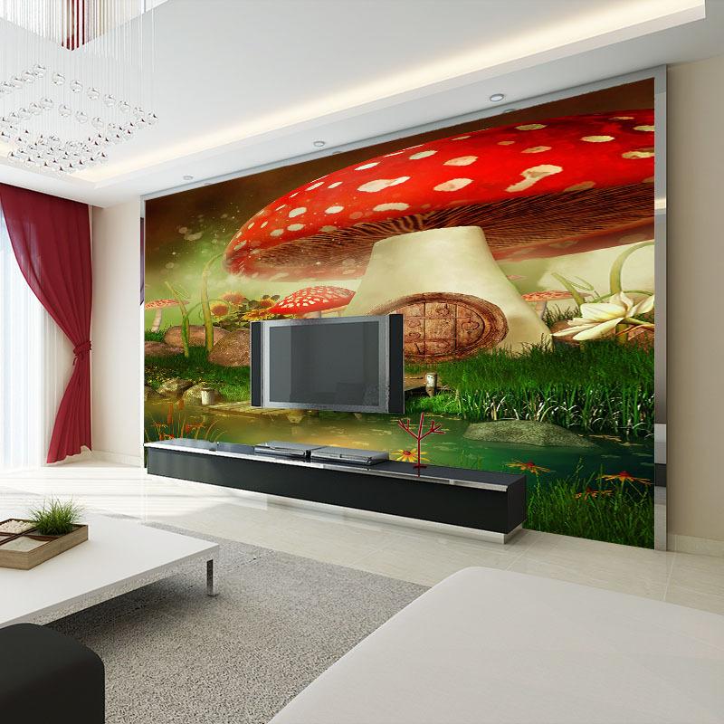 现代中式 儿童房壁画客厅沙发电视背景墙壁纸无缝无纺布大型墙布图片