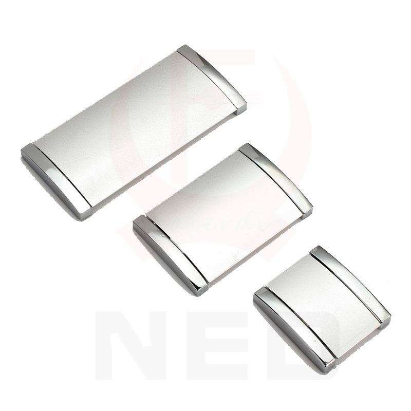 明装暗藏式拉手铝合金暗扣把手现代暗装拉手欧式免挖槽拉手图片