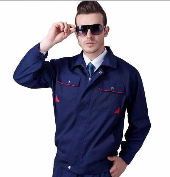 供应工作服套装男 管理人员服装高端大气穿着舒适包绣LOGO