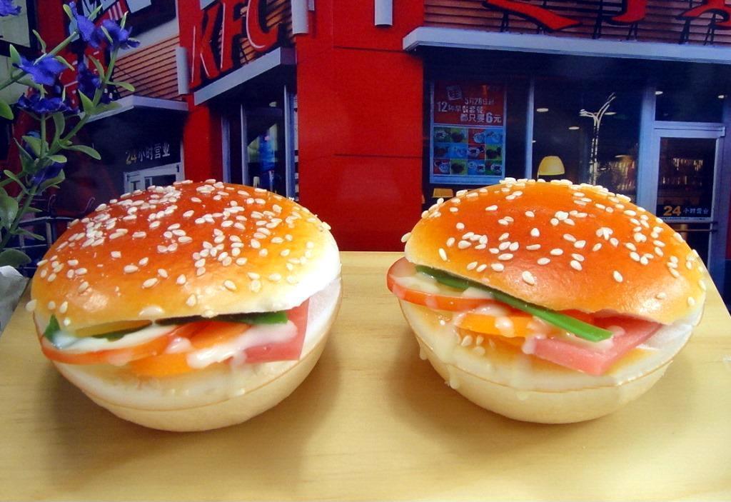 仿真食物模型开口汉堡包 创意冰箱贴 肯德基麦当劳优选促销礼品图片