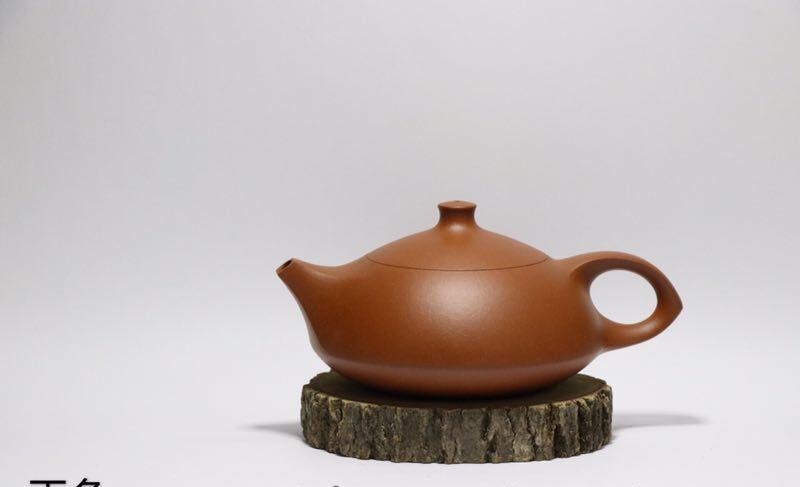 赖通发老师纯手工茶壶 手拉壶朱泥料 玉兔款茶壶茶具