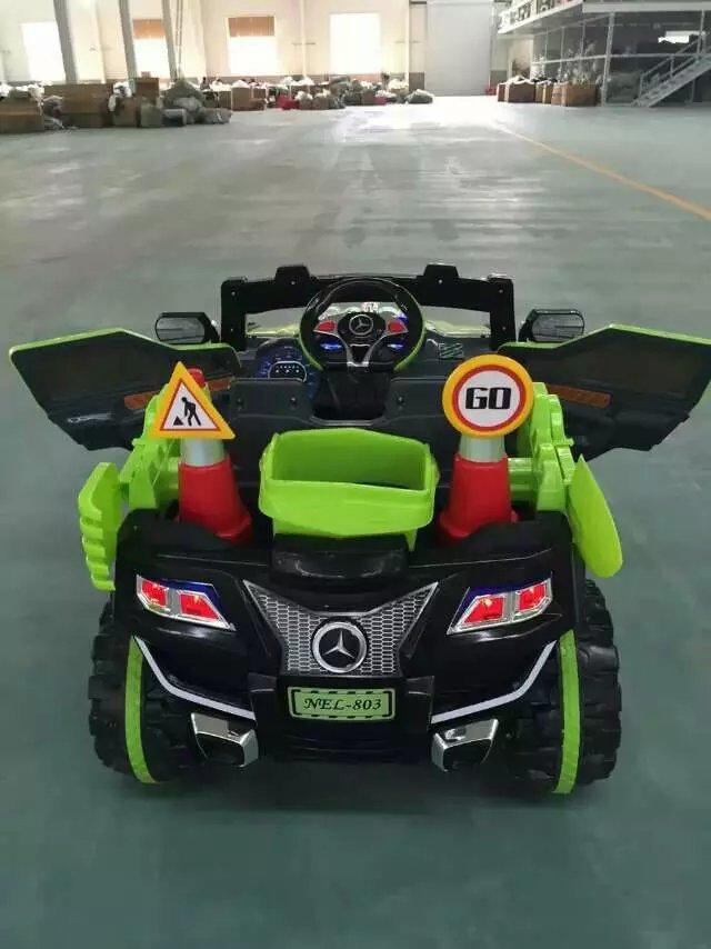 新款奔驰越野儿童电动汽车一对一遥控双开门USB插口童车批发