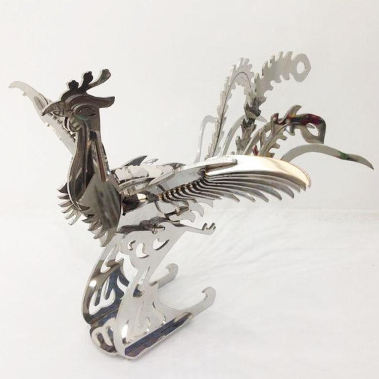 铁件工艺品凤凰于飞 激光切割金属工艺品厂家直销 商务礼品定制