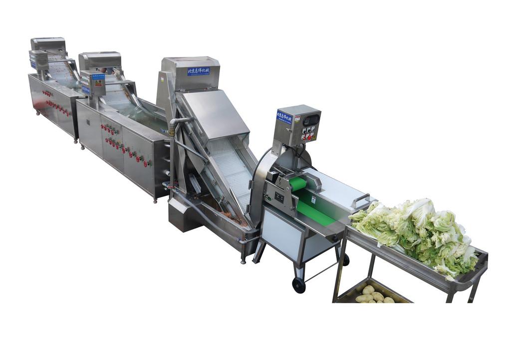志伟其他果蔬加工设备洗菜机厂家中央厨房设备净菜加工净菜配送.图片