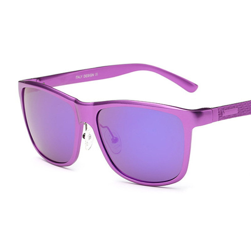 【JL8587】男女同款 铝镁合金 偏光太阳镜 全框彩膜女墨镜可代发
