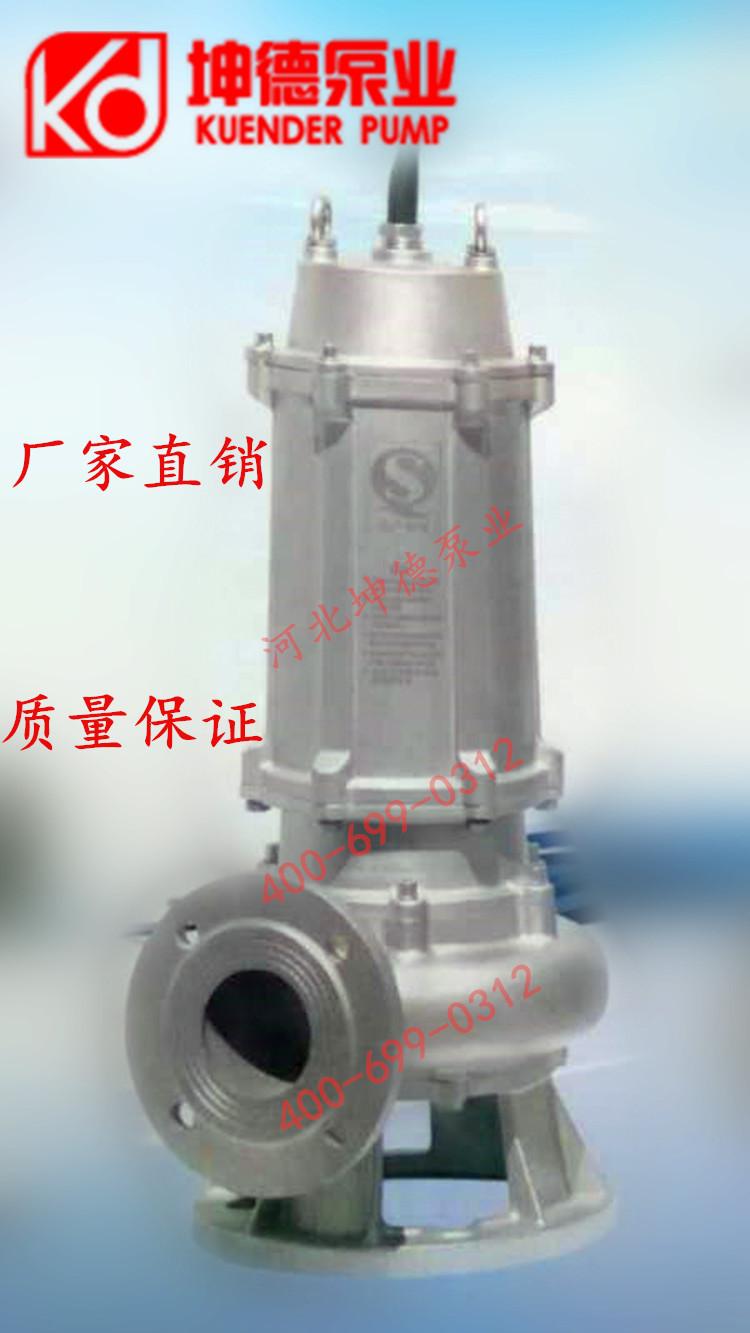 220V 380V不锈钢潜水泵污水泵 农用灌溉抽水机 水井抽水泵排污泵