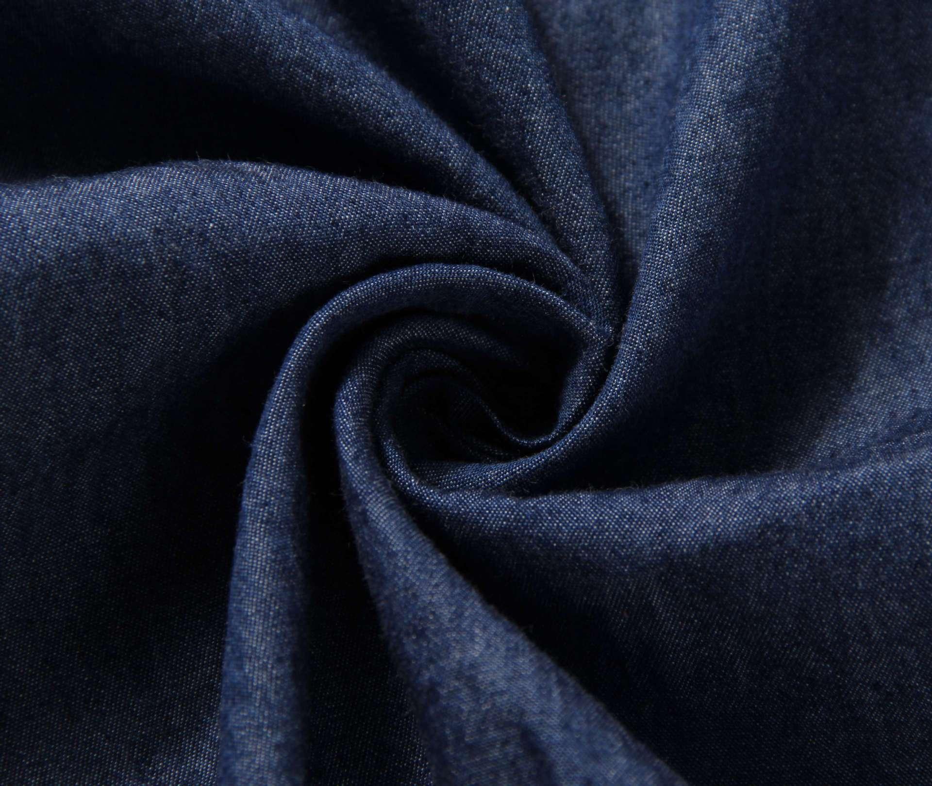 纯棉32s水洗牛仔布面料 童装面料 连衣裙 夏季薄款牛仔 全棉柔软图片