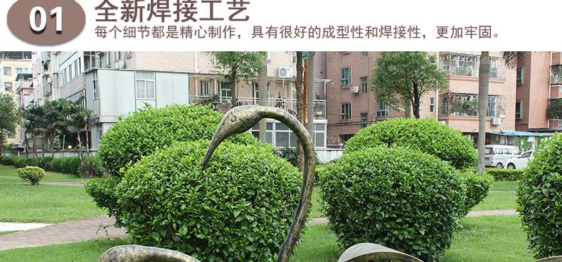 金属雕塑摆件鹤小区园林景观装饰摆件现代中式家居装饰不锈钢仙鹤图片