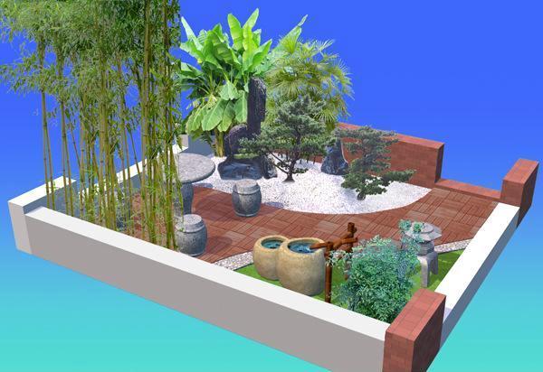私家花园设计 别墅庭院设计 屋顶花园设计 园林景观设计 施工图片