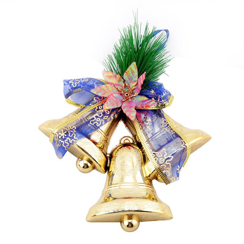 圣诞大铃铛挂件圣诞挂件圣诞树装饰品松针挂三连钟礼品装饰品85g图片