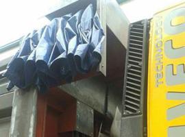 自卸车伸缩篷布顶盖密闭系统