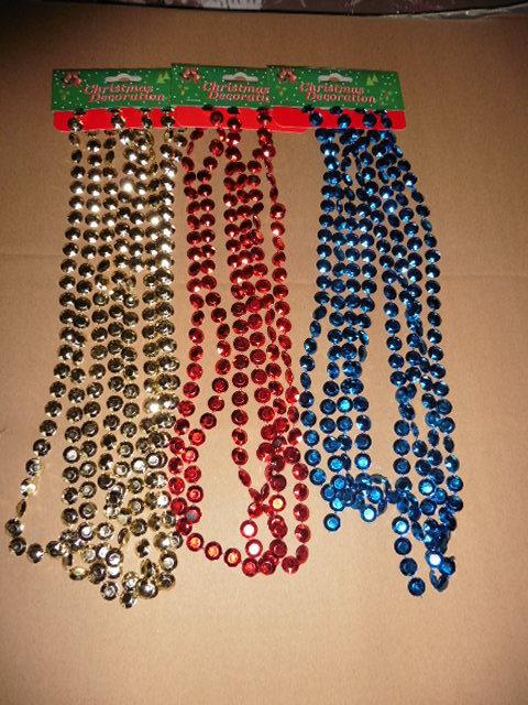 高档圣诞饰链条 塑料电镀连线珠 珠链批发定制