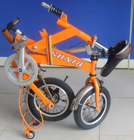 最新设计高档配件折叠自行车车皇图片