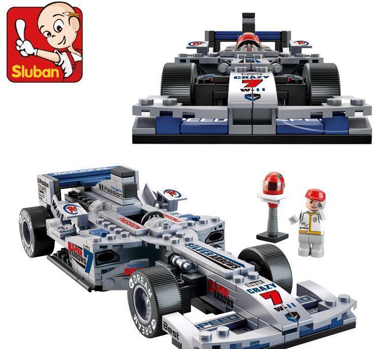 小鲁班b0352方程式赛车1:24银箭f1赛车拼装益智积木玩具批发图片