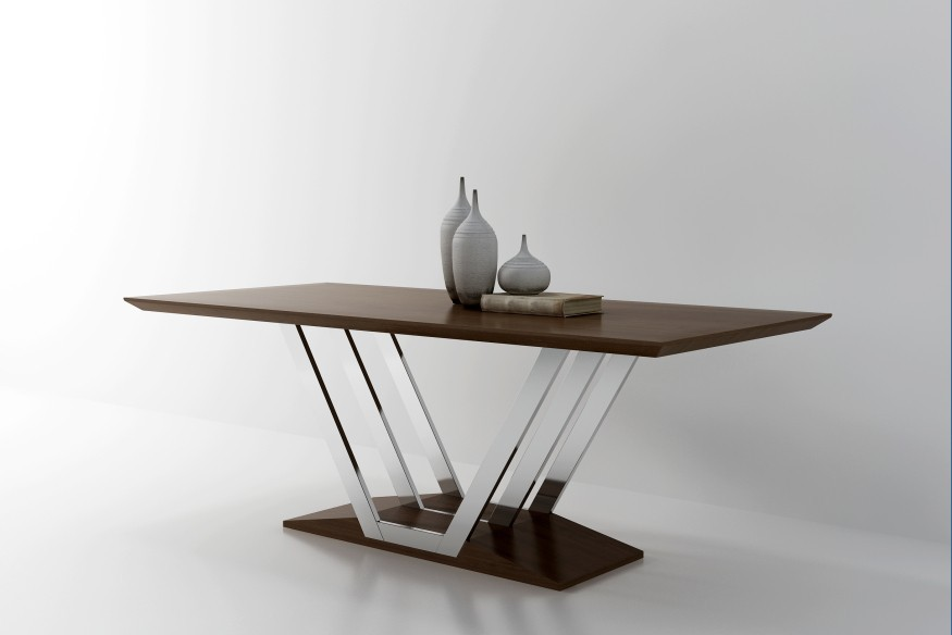 美国进口黑胡桃木餐桌t7016图片