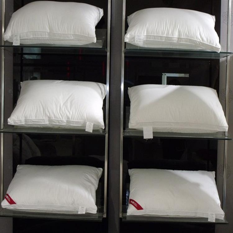 包骨丝绵枕芯 鸭绒羽绒枕头枕芯单人 正品五星级酒店枕头家纺枕芯