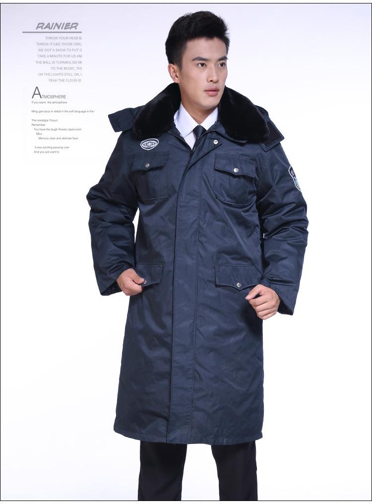 批发2011新式保安服冬装 加厚加长多功能 新款防寒大衣 保安大衣1图片