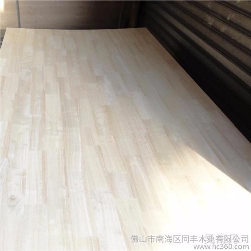 厂家直销批发进口橡胶木指接板