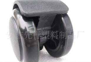 厂家直供 转椅万向轮 M10螺丝件 PU压力轮黑色 AP2011113