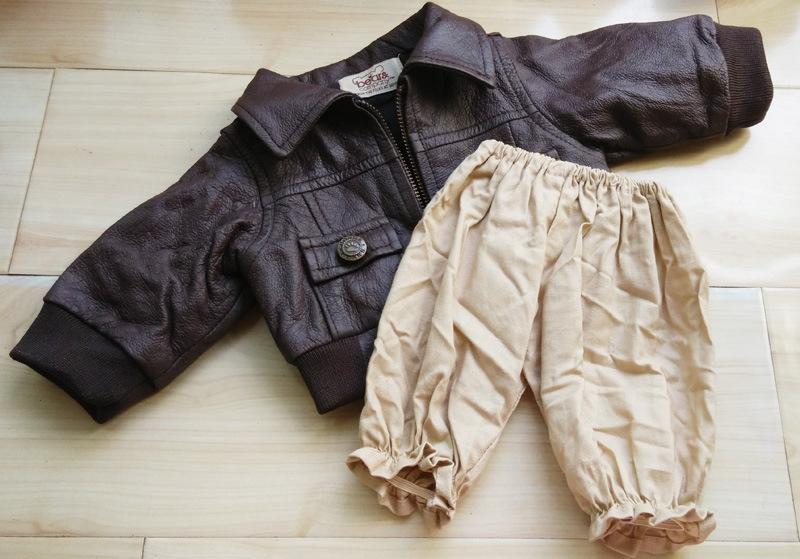 外贸服装洋垃圹f�x�_美国泰迪熊外贸原单服装-皮夹克套装 毛绒玩具熊 洋娃娃衣服配件