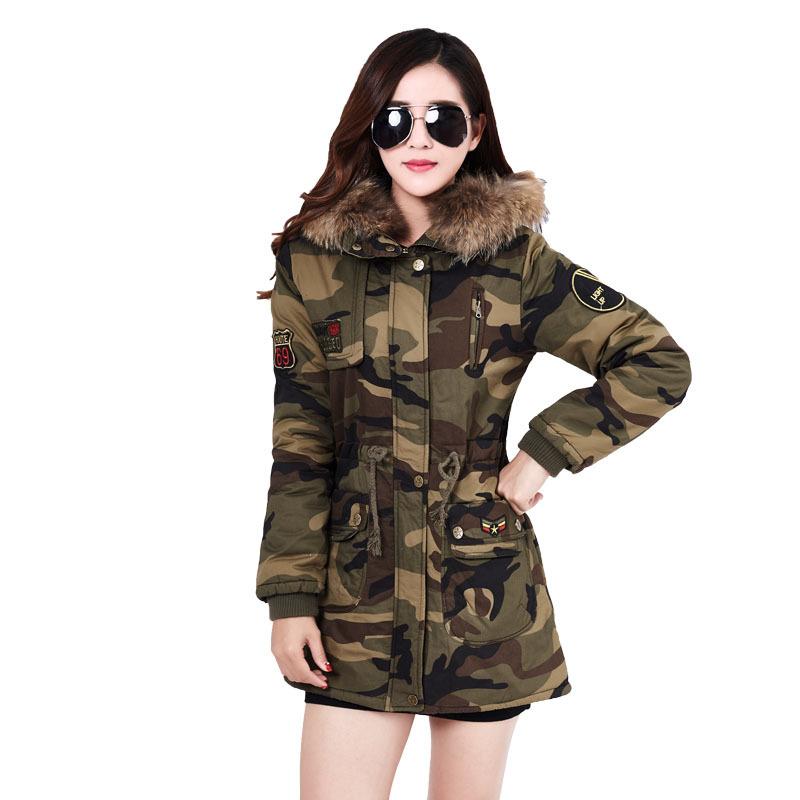军装大衣迷彩服女装上衣外套加厚棉服