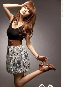 时尚甜蜜約會服蕾絲花裙假兩件洋裝 A2834