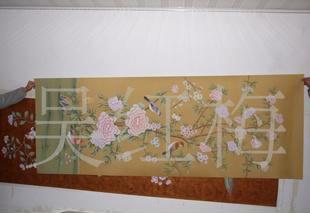 供应易佳工艺坊丝绸手绘墙纸0