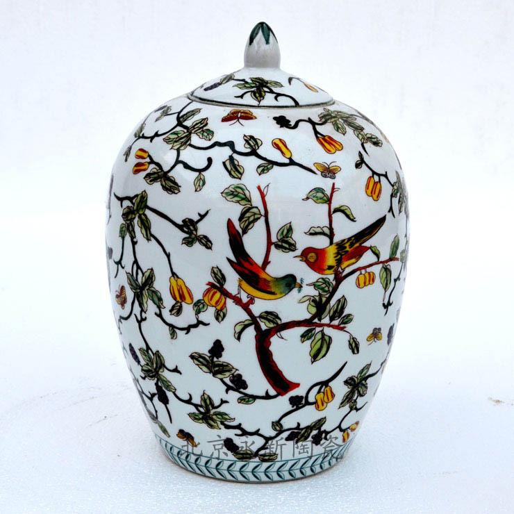 [批发团购]欧式地中海美式观赏罐 瓷器摆件工艺品 配饰家饰出口图片