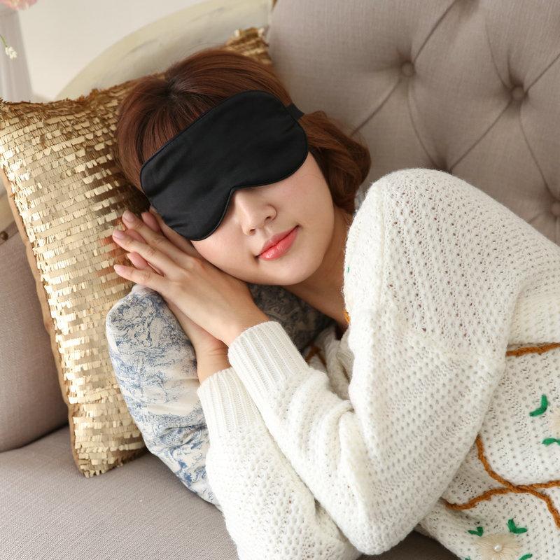 真丝眼罩睡眠女男士通用 冰袋 可爱遮光无痕 送耳塞 可调节包邮