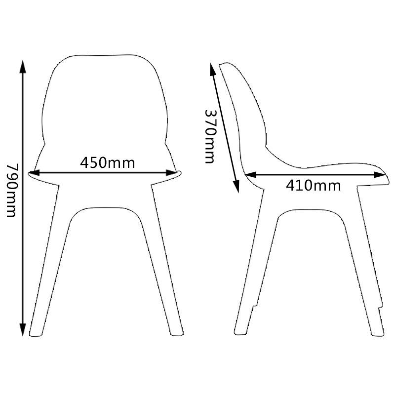 伊姆斯塑料洽谈椅子 eames塑料餐椅 北欧创意个性餐桌图片
