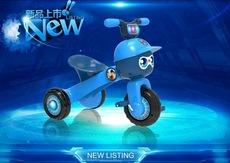 2016新款贝乐康儿童时尚折叠棒球小子音乐发光三轮车