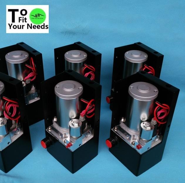 系统可订制安全低电压12伏300瓦升降举机车辆用微型液压站动力单元图片