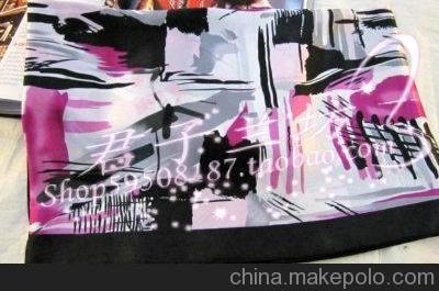 厂家批发~韩版缎面长丝巾 仿真丝防晒百变高档长款丝巾0