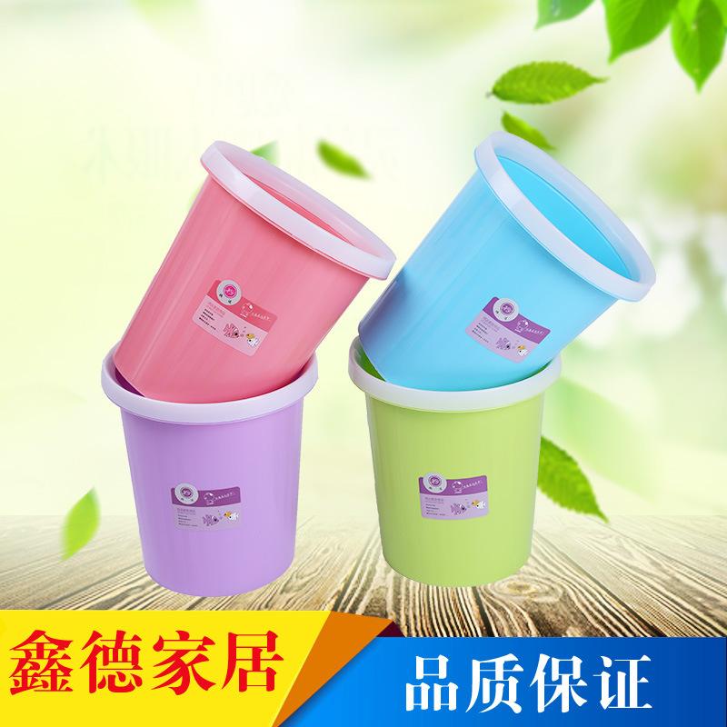 厂家直销 办公家用塑料卫生桶卡通可爱多彩卫生筒 家居垃圾桶批发