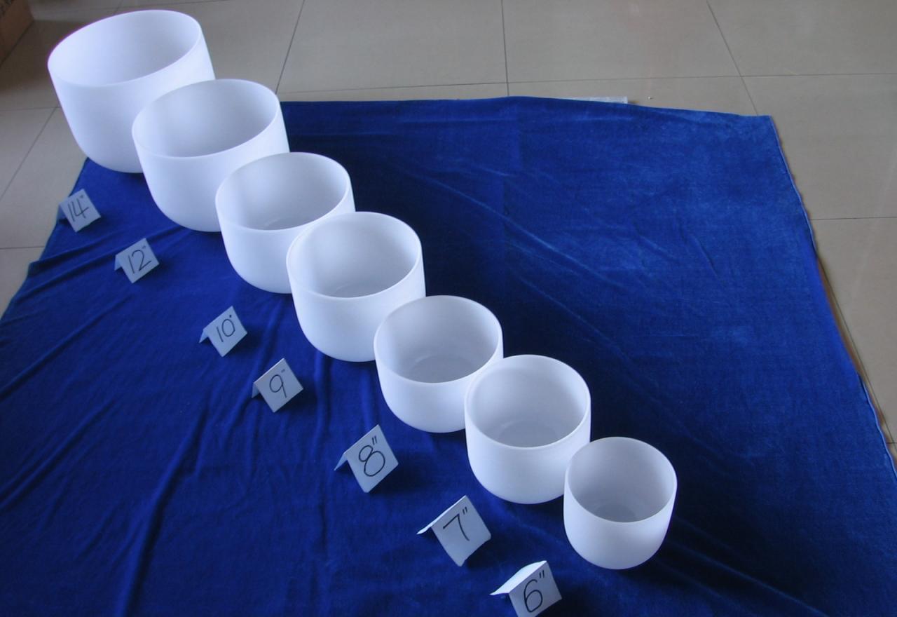 crystal chakra singing bowls