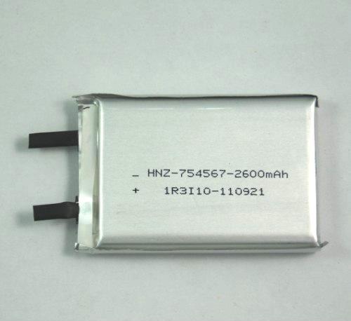 3.7V锂电芯 充电锂电池电芯 PL754567-2600mAh充电锂电池电芯