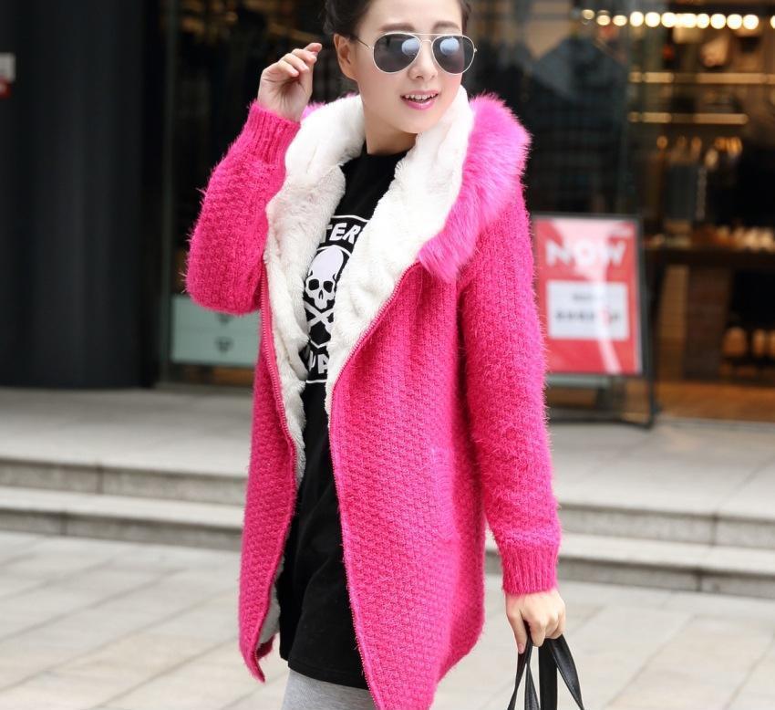 13冬新款韩版加厚甜美针织开衫毛衣 女士毛衣外套批发 X1515