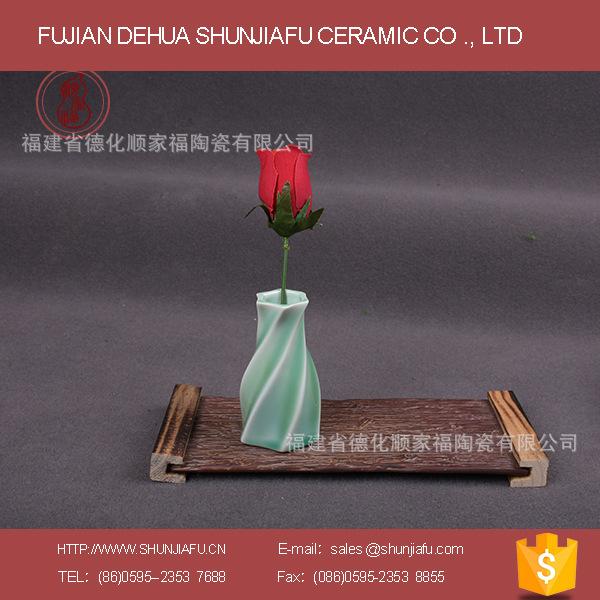 陶瓷青瓷花瓶精致办公休闲家具摆设花瓶工艺品个性青瓷花瓶批发2
