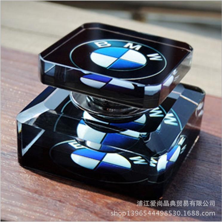 水晶汽车标志香水座  水晶定制礼品车载香水摆件 汽车内装用品