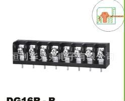 厂家供应深圳直销DG16R-B黑色栅栏式接线端子