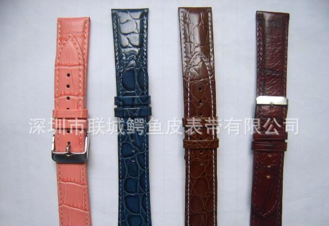 深圳表带真皮表带 高档牛皮 自动蝴蝶扣手表带18 19 20 21 22mm