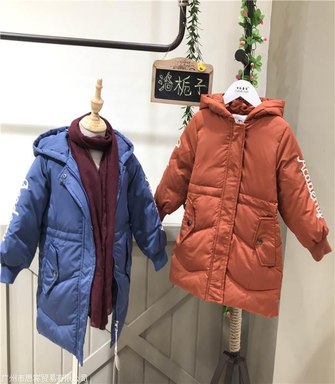 杭州品牌洛栀子女童韩版棉衣一手货源走份批发