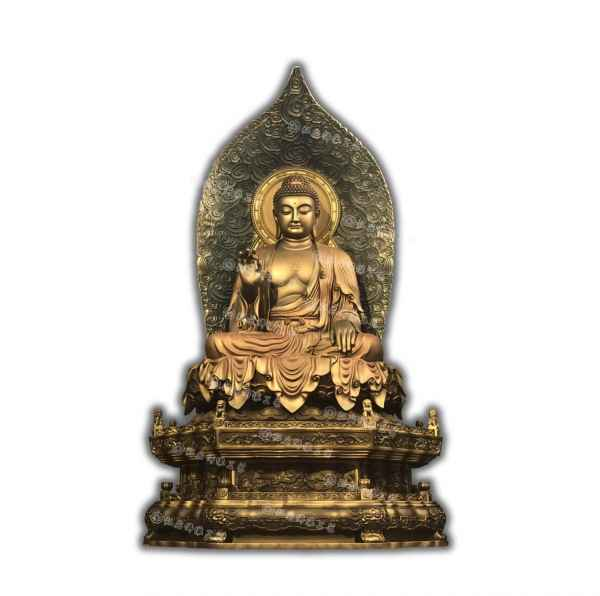 释迦牟尼佛铜铸佛像