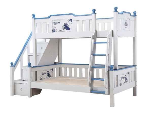 实木儿童高低双层床