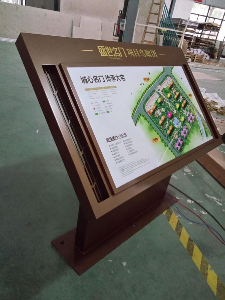 区域分布总平图商场大厅斜面导视台总索引标识牌楼层导视牌