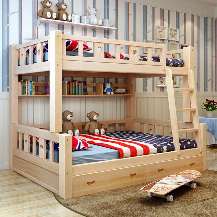 简约现代实木海景床上下大全床图片床实木子母铺定制床可分体层儿童别墅高低一双层图片