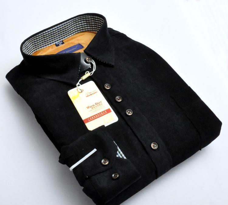 袋鼠男士保暖衬衫 休闲男装正品加绒加厚 时装植物羊绒衬衣代发