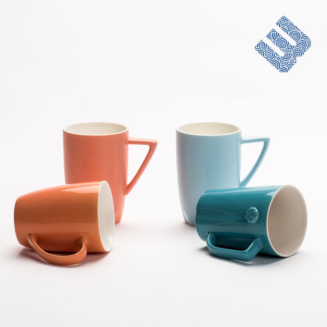 定制色釉特殊器形陶瓷杯 现代设计个性创意马克杯餐具礼品杯子图片