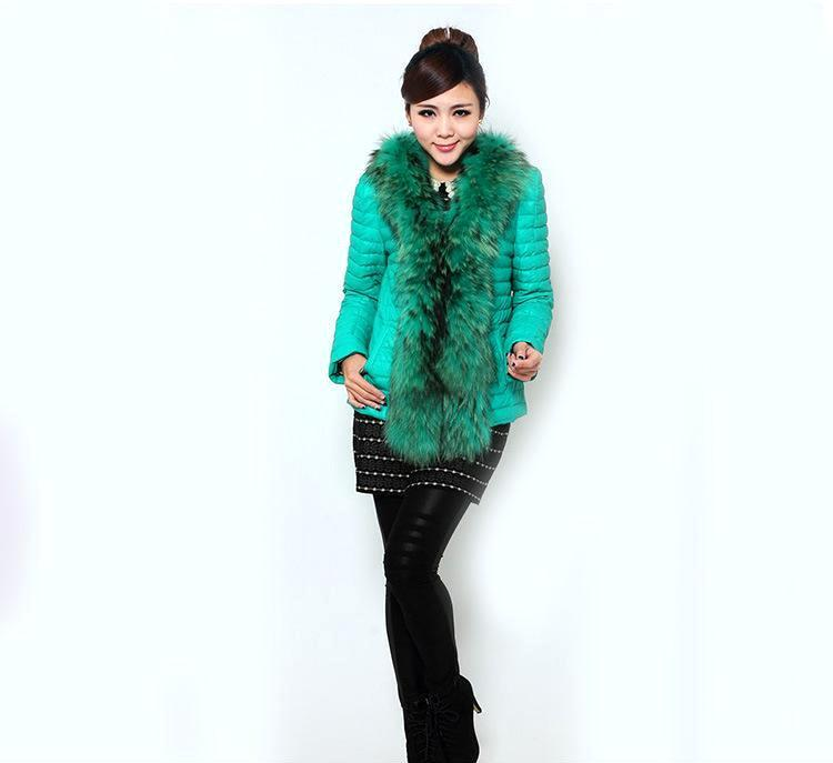 新品热卖女士性感皮草皮衣女装欧美真皮皮衣女式短款羽绒服批发